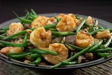 sauteed shrimp with green beans