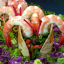 shrimp tortilla towers