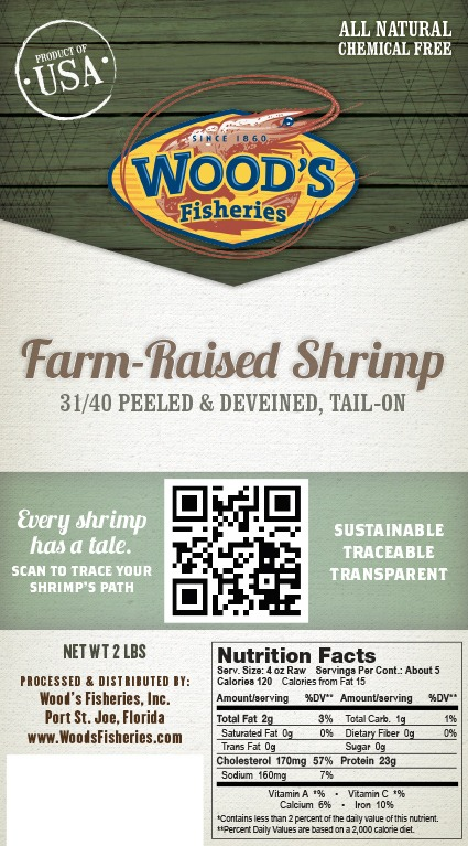 Wood's Fisheries label